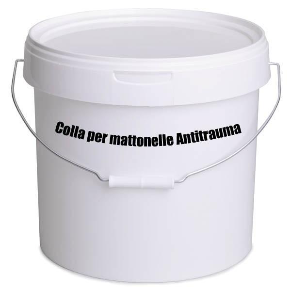 BARATTOLO DI COLLA PER MATTONELLA DA ESTERNO  KG. 12 + BARATTOLO INDURITORE