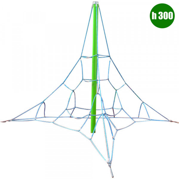PIRAMIDE ARRAMPICATA A RETE DIM CM. 398 X 398 X 300 (H)