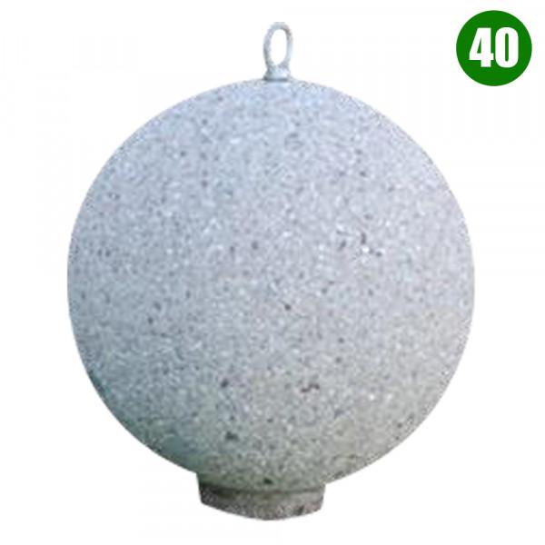 DISSUASORE A SFERA 40 CON GANCIO CM 40 X 40 X 40 (H) COLORE SABBIATO GRIGIO