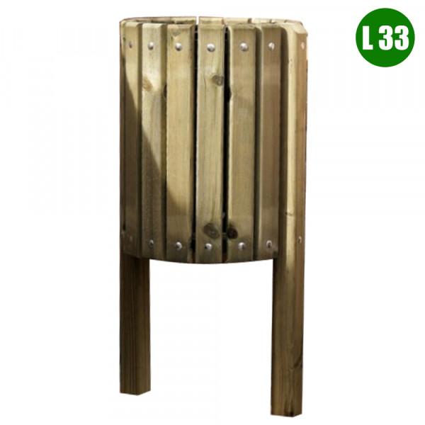 CESTINO IN LEGNO DIM CM 40 X 150 (H) 33 LITRI