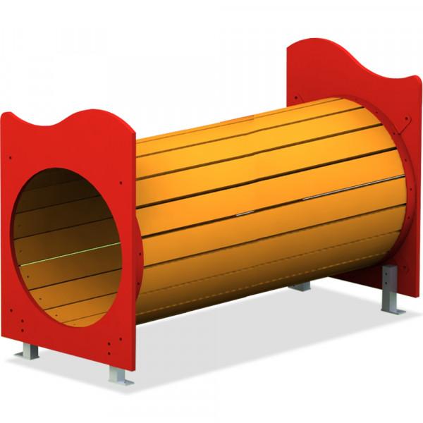 TUNNEL IN LISTONI DI LEGNO DI PINO DIM M 0,79 X 1,50 X 0,71 (H)